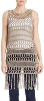 Bailey 44 Fringed Open-Knit Vest