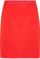 Lanvin Grosgrain-trimmed Crepe Mini Skirt - Red