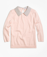 Brooks Brothers Supima® Cotton Collared Sweater