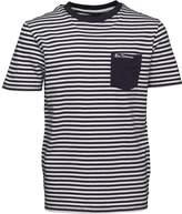 Ben Sherman Boys Fine Stripe T-Shirt Navy Blazer