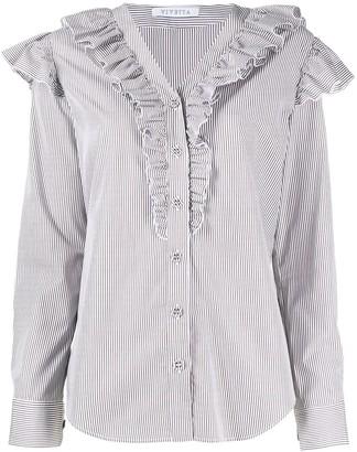 VIVETTA Ruffled Striped Shirt