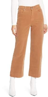 7 For All Mankind Alexa High Waist Crop Wide Leg Corduroy Pants