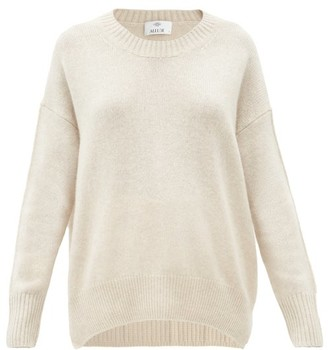 Allude Oversized Round-neck Cashmere Sweater - Beige