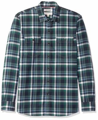 Goodthreads Amazon Brand Men's Standard-Fit Long-Sleeve Plaid Twill Shirt