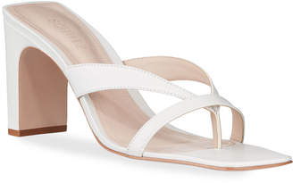 Schutz Allile Mid Heel Thong Sandals