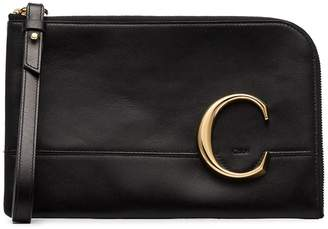 Chloé C logo clutch