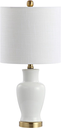 Jonathan Y Designs Chi 21In Ceramic/Iron Modern Classic Led Table Lamp