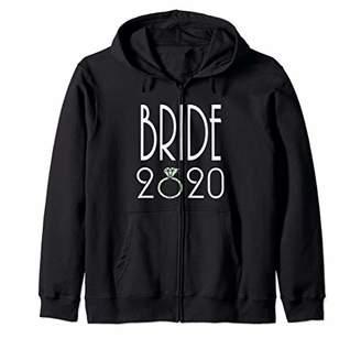 Bride 2020 Getting Married Announcement Engagement Ring Zip Hoodie