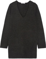 Helmut Lang Waffle-knit Wool And Cashmere-blend Sweater - Charcoal
