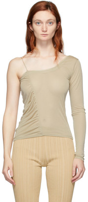 BEIGE Gauntlett Cheng Single-Shoulder T-Shirt