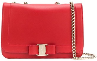 Salvatore Ferragamo foldover Vara shoulder bag