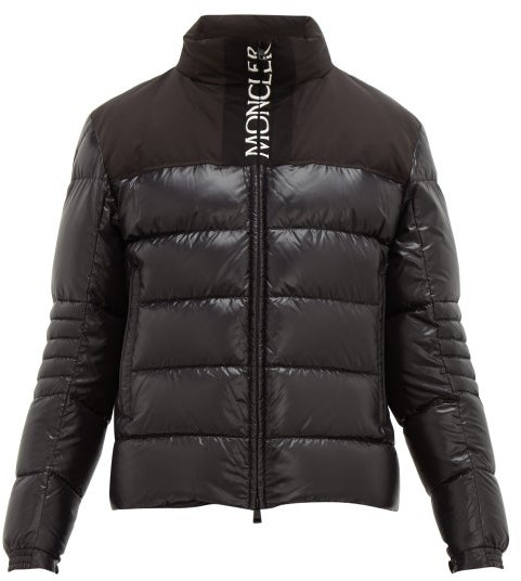 cf6405fd6 Bruel Logo Embroidered Quilted Down Coat - Mens - Black