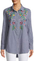 Velvet Heart Samantha Embroidered Button-Front Tunic