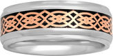 JCPenney MODERN BRIDE Mens Stainless Steel Tribal Inlay 8mm Wedding Band