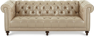 Massoud Lara Leather Chesterfield Sofa 94