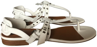 IRO White Leather Sandals