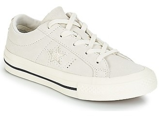 Converse ONE STAR OX girls's Shoes (Trainers) in White