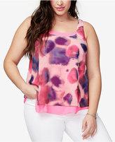 Rachel Roy Trendy Plus Size Layered Tank Top