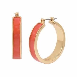 Kenneth Cole Marble Inlay Hoop Earrings