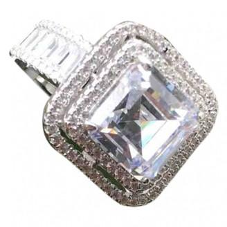 Non Signé / Unsigned Non Signe / Unsigned Art Deco White Silver Rings