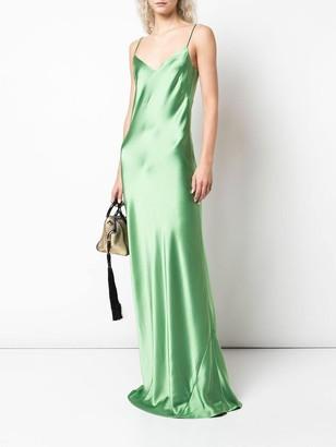Galvan Green V-neck Slip Dress