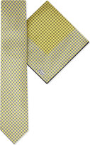 Brioni Circle print silk tie & pocket square