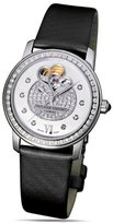 Frederique Constant Double Heart Beat FC-310DHBPV2PD6 34mm Diamonds Automatic Stainless Steel Case Black Satin Mineral Women's Watch