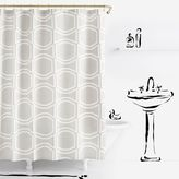 Kate Spade Bow Tile Shower Curtain in Platinum