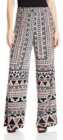 Angie Junior's Wide Leg Printed Pants