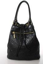 Tory Burch Black Stitch Detail Gold Tone Shoulder Handbag