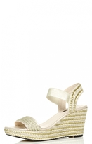 Quiz Gold Strappy Hessian Wedges