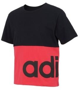 adidas Big Girls Short Sleeve Blocked T-shirt