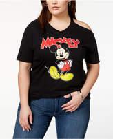 Disney Plus Size Mickey Mouse Cold-Shoulder T-Shirt