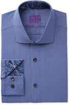 Michelsons of London Slim-Fit Blue Pencil Stripe Dress Shirt