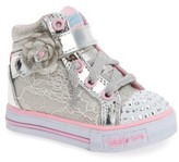 Skechers Toddler Girl's Twinkle Toes - Shuffles High Top Sneaker