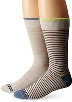 Nautica Men's 2 Pack Classics Dress Casual Striped Free Run Crew Socks