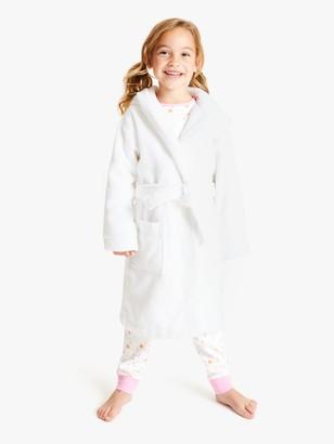 John Lewis & Partners Girls' Towelling Robe, White