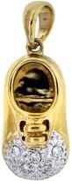 18K Two Tone Gold Baby Boy Shoe Charm