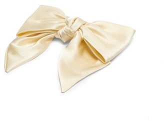 Sophie Buhai Silk-satin Bow Hair Clip - Ivory