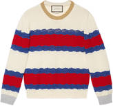 Gucci Wool and lace knit top
