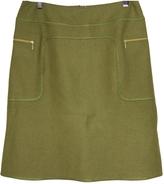 Miu Miu Green Wool Skirt