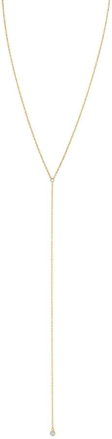 Velvet by Graham & Spencer CZ BEZEL LARIAT NECKLACE BY SLOAN