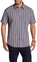 James Campbell Tolleson Short Sleeve Plaid Regular Fit Woven Shirt