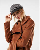 Express wool blend cocoon coat