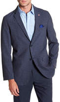 Ben Sherman Fulwil Blue Checked Two Button Notch Lapel Sport Coat