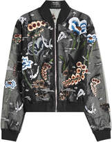 Markus Lupfer Underwater Embroidered and Embellished Chiffon Jacket
