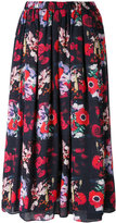 Kenzo floral print full skirt - women - Silk/Polyester - 34