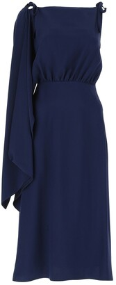 Prada Draped Sleeve Flounce Dress