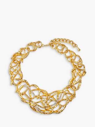 Susan Caplan Vintage Elizabeth Taylor Gold Plated Swarovski Crystal Statement Necklace, Gold
