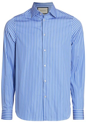 Gucci Striped French Collar Shirt